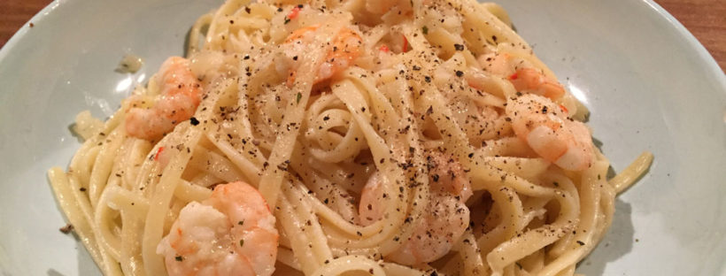 Matched Betting Mum Dinners lemon chilli prawn linguine