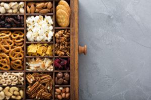 Overhead shot of healthy snacks