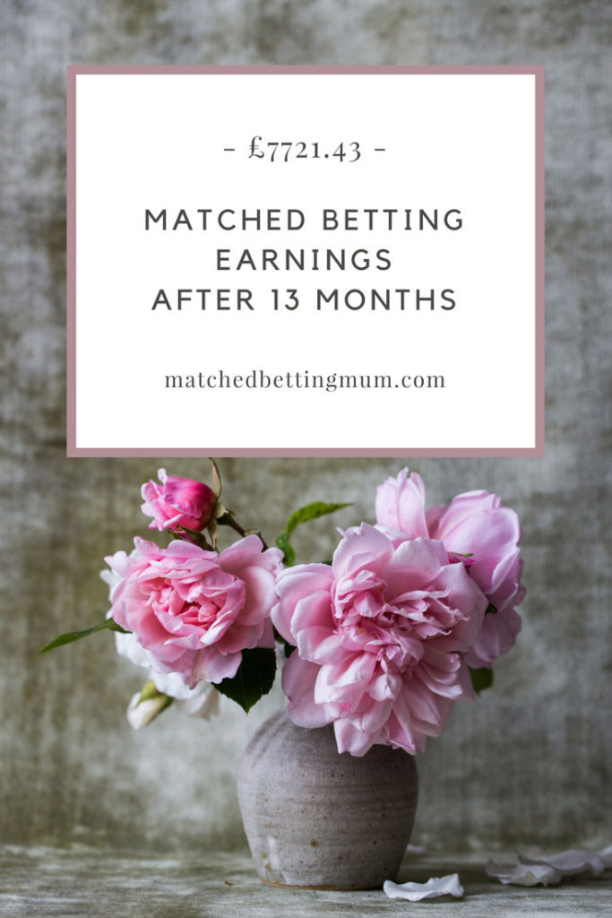 Matched betting mum earnings diary profit accumulator