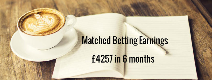 matched betting mum monthly diary £4000 6 months profit accumulator