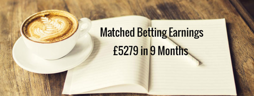 Matched betting mum diary earnings